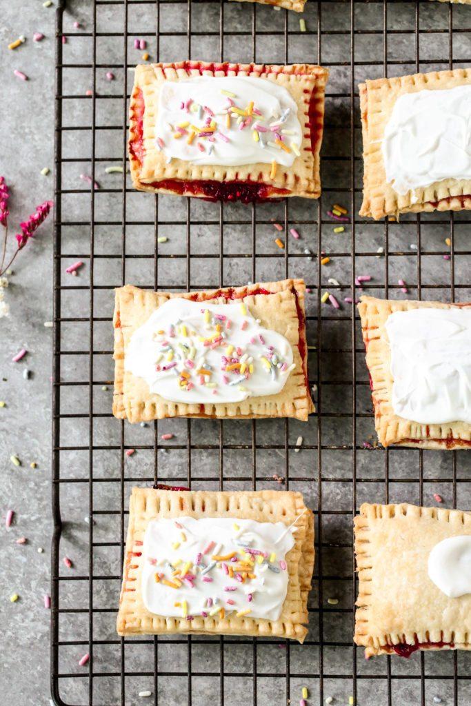 White Chocolate Berry Poptarts