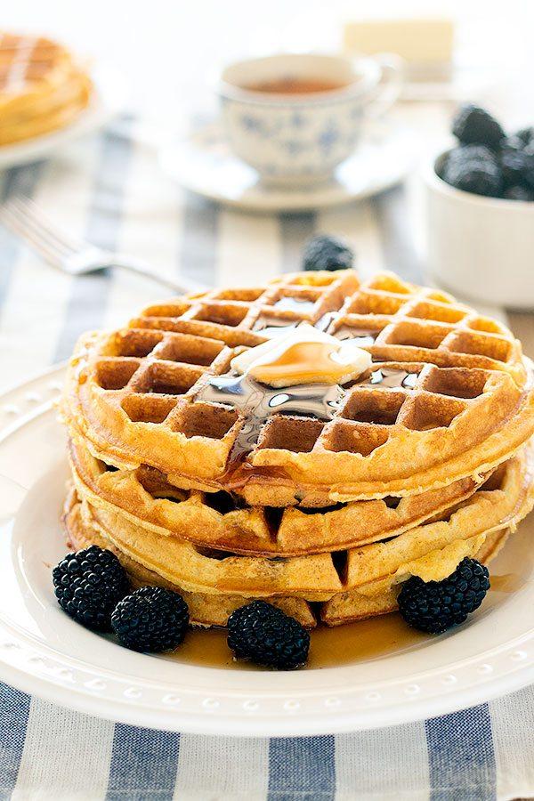 buttermilk-cornmeal-waffles