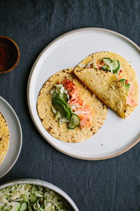 Chipotle Salmon Tacos
