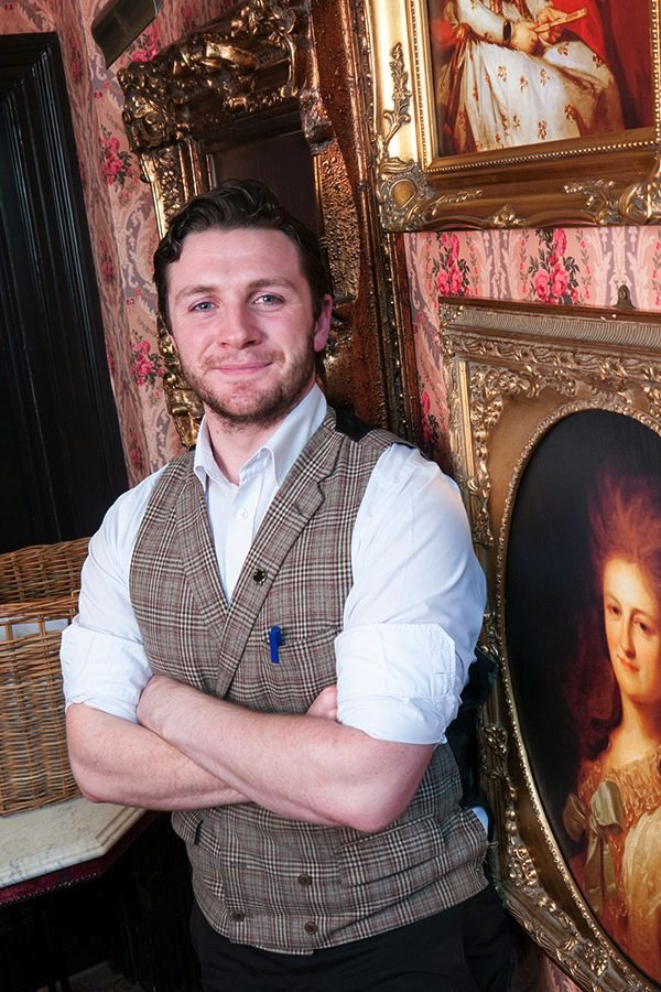 Andrew-charming mixologist at Peruke  and Periwig