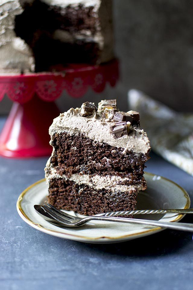 Candy Bar Cappuccino Cake