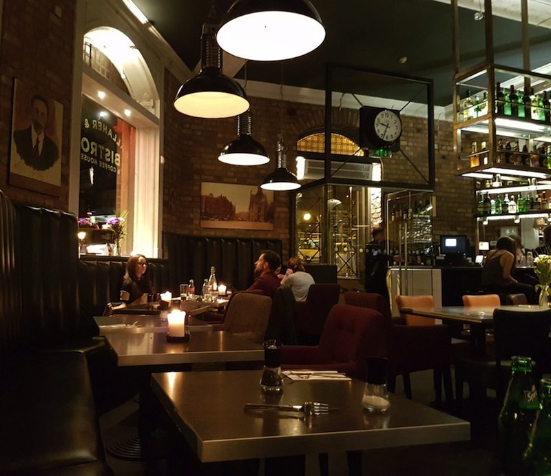 Upscale bistro setting at Gallahers and Company