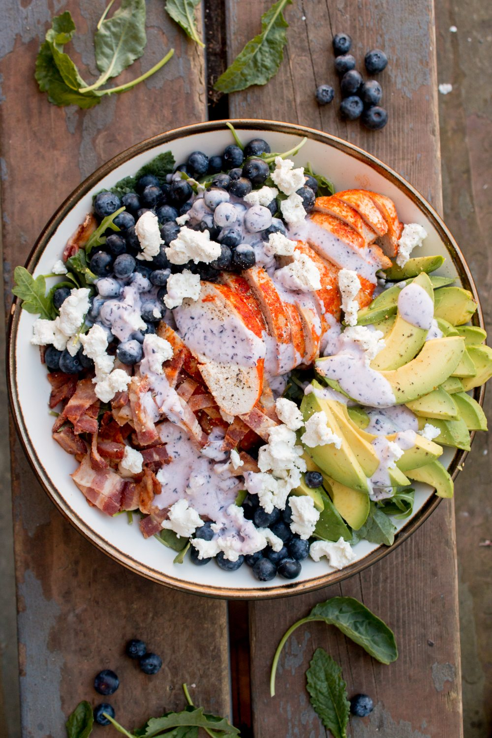 Roast Chicken Salad with Avocado and Blueberries
