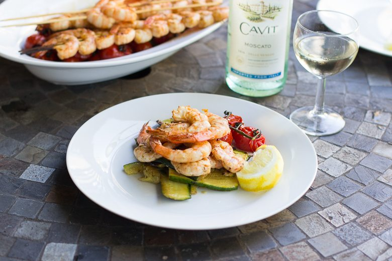 Spicy Grilled Shrimp and Vegetables