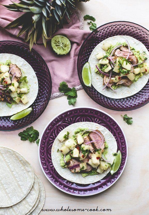 Pork Tacos and Pineapple Salsa