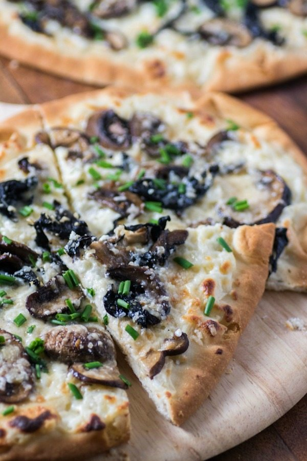 Mushroom and Truffle Cheese Flatbread