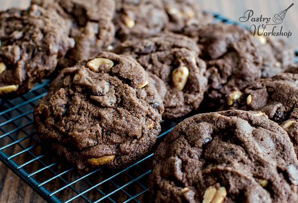 Double Chocolate Peanut Cookies