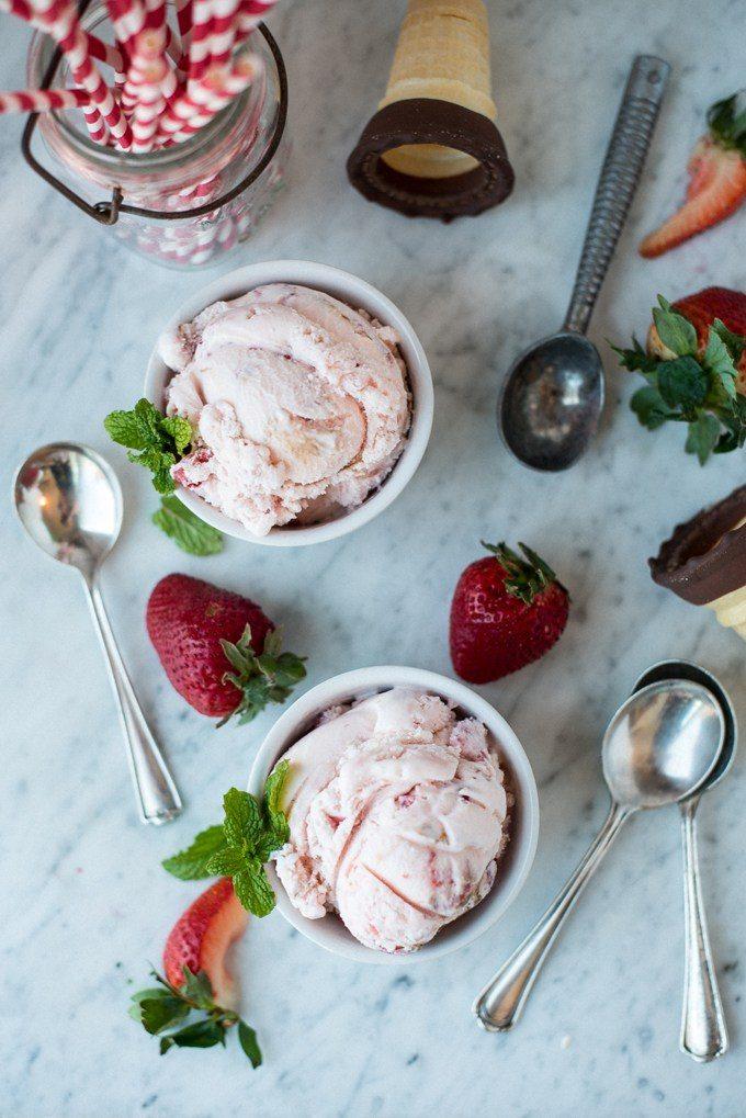 Balsamic Strawberry Ice Cream