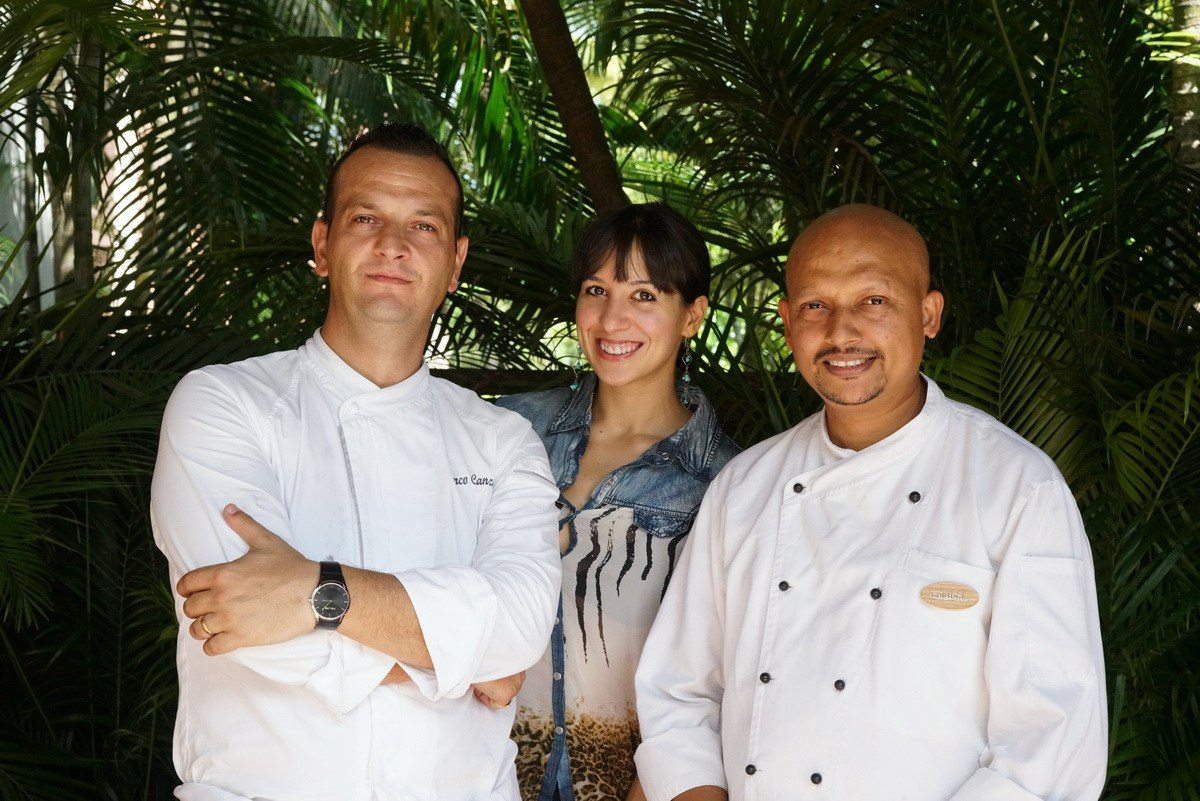 Ambra Torelli with the Chefs at Park Hyatt Goa