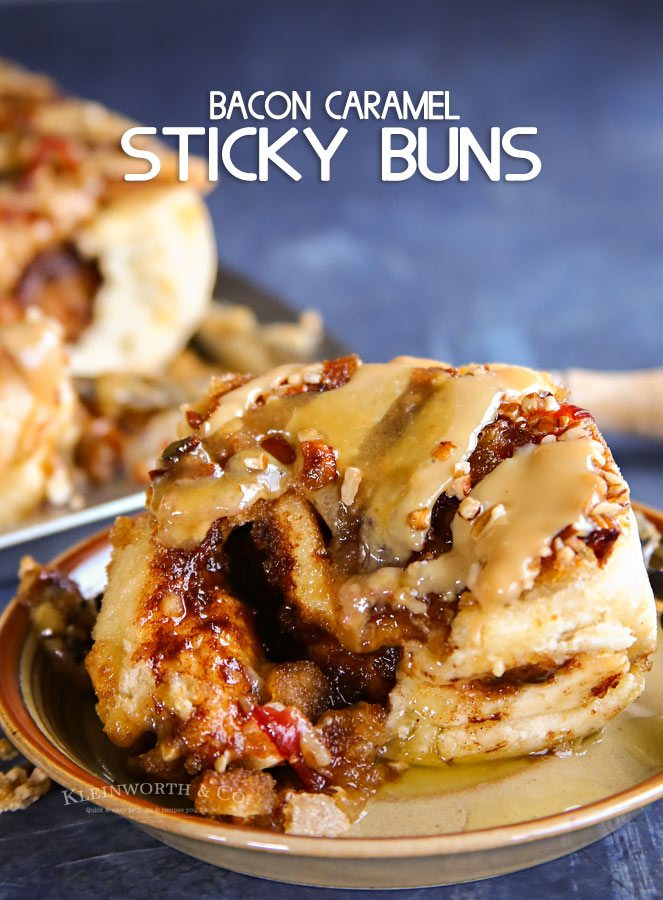 Bacon and Caramel Glazed Sticky Buns