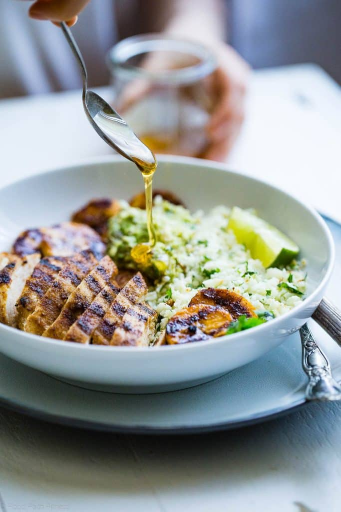 Caribbean Grilled Chicken and Plantain Bowls