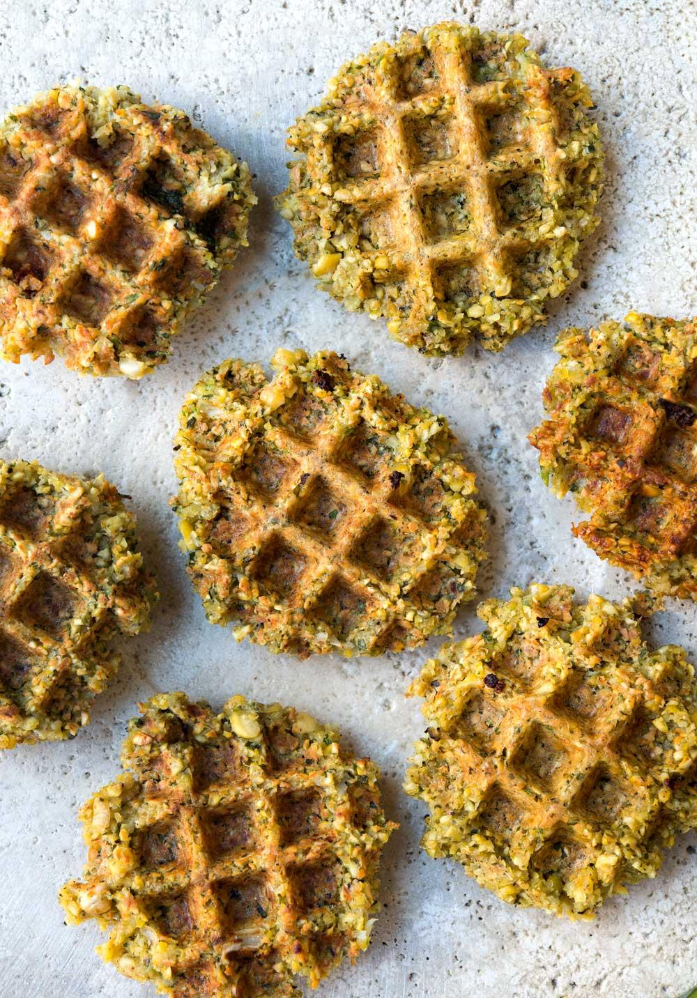 Falafel Waffles