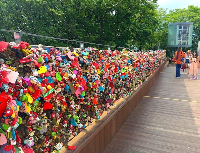 Just a few of the Love Locks