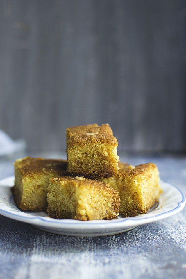 Namoura: Soaked Semolina Cake