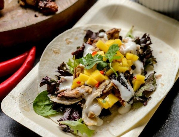 Spicy-Chicken-and-Mango-Salsa-Soft-Tacos
