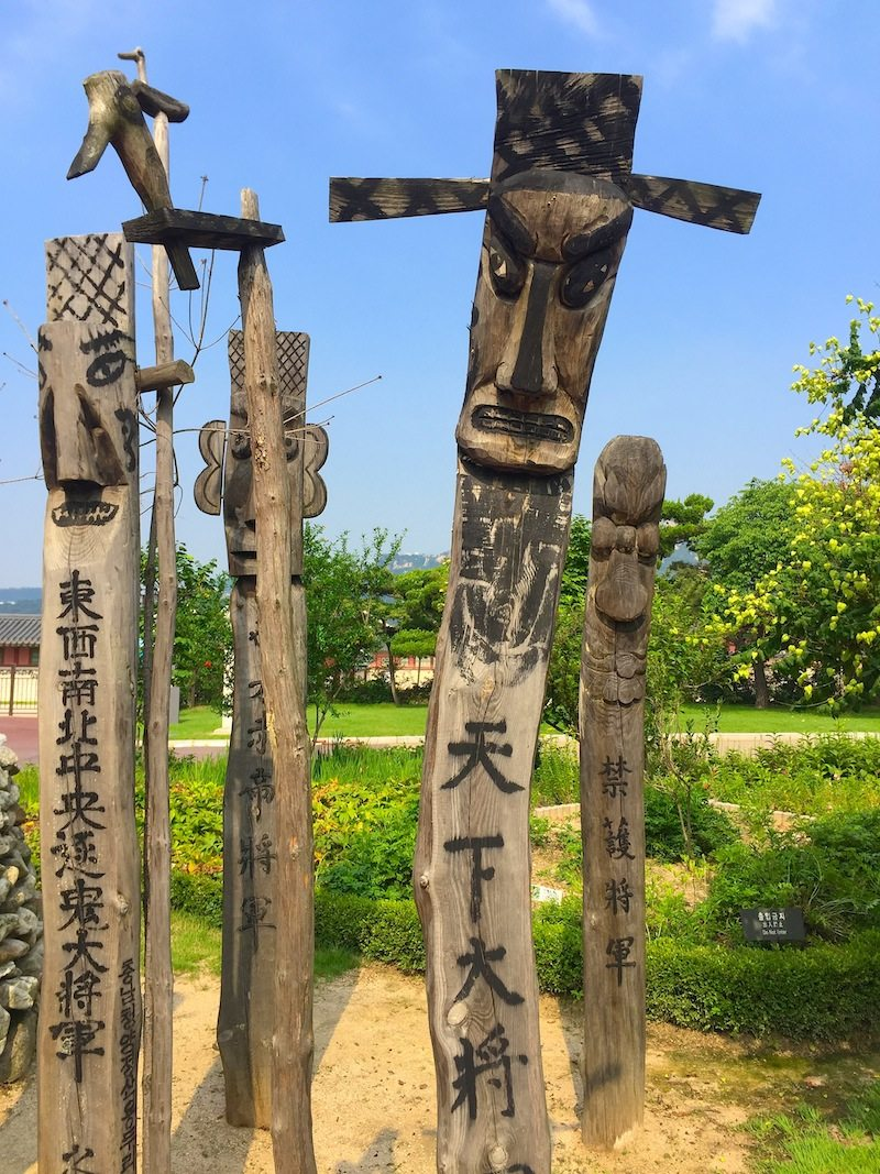 Spirit Posts at National Folk Museum