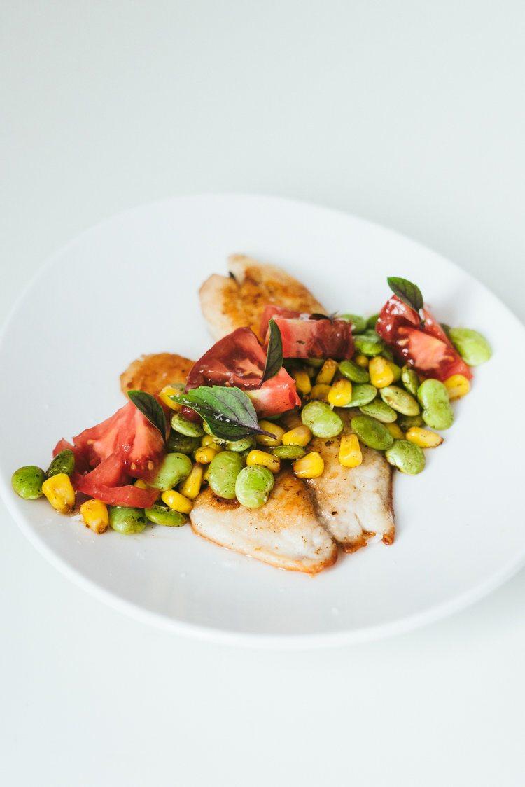Seafood and Summer Succotash