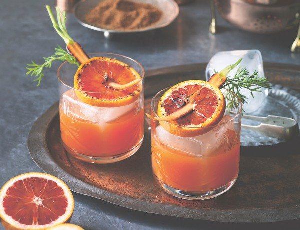 blood orange and carrot negroni