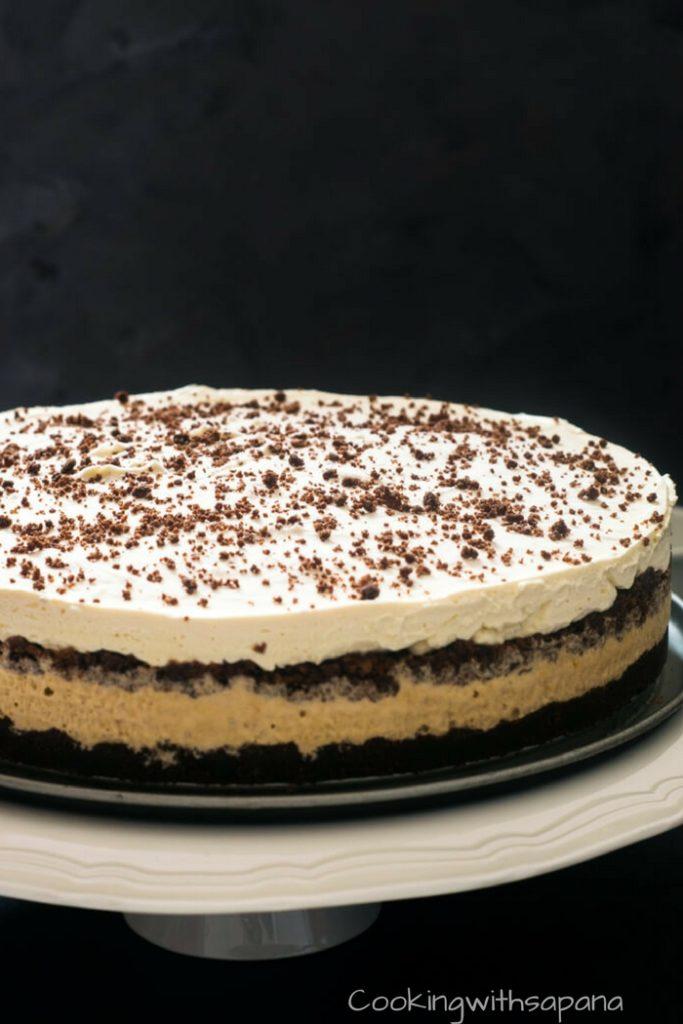 Mocha Cappuccino Ice Cream Cake