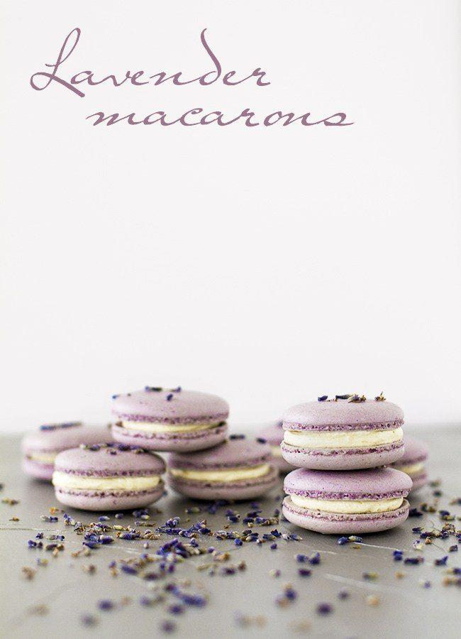 Lavender Buttercream Macarons