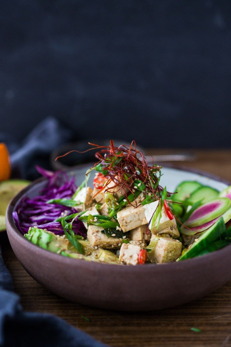Tofu or Ahi Poke Bowl