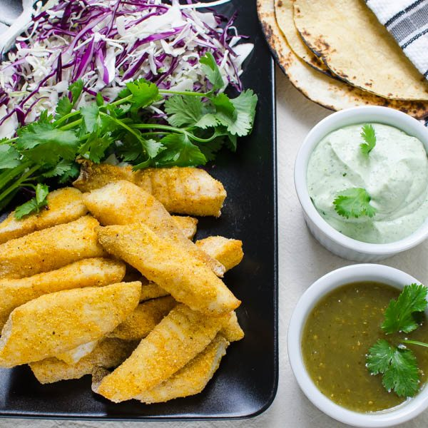 Breaded and Baked Fish Tacos