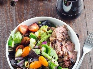 Grilled-Skirt-Steak-Salad-and-Beaujolais-Umami-Girl-2