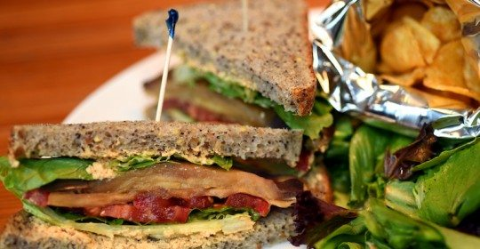"Vegan BLT with Eggplant ""Bacon"" and Other Vegetarian Delights"