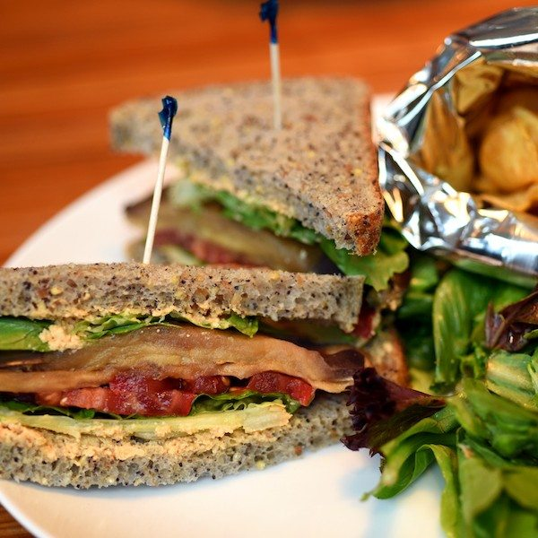 """Vegan BLT with Eggplant """"Bacon"""" and Other Vegetarian Delights"""
