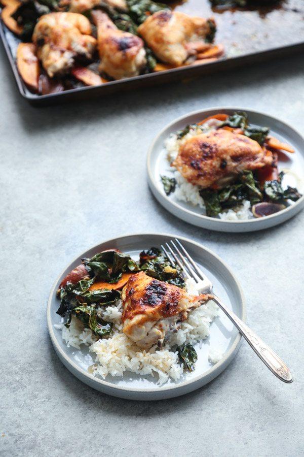 Sheet Pan Curry Chicken