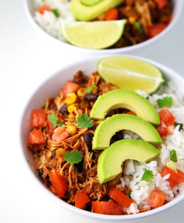 Slow Cooker Burrito Bowls