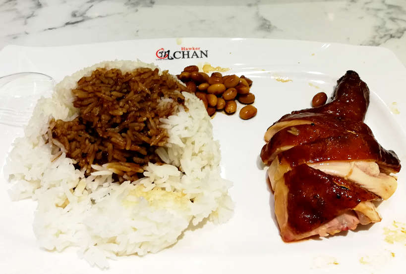 Legendary Cantonese-style soya sauce chicken rice at Hawker Chan