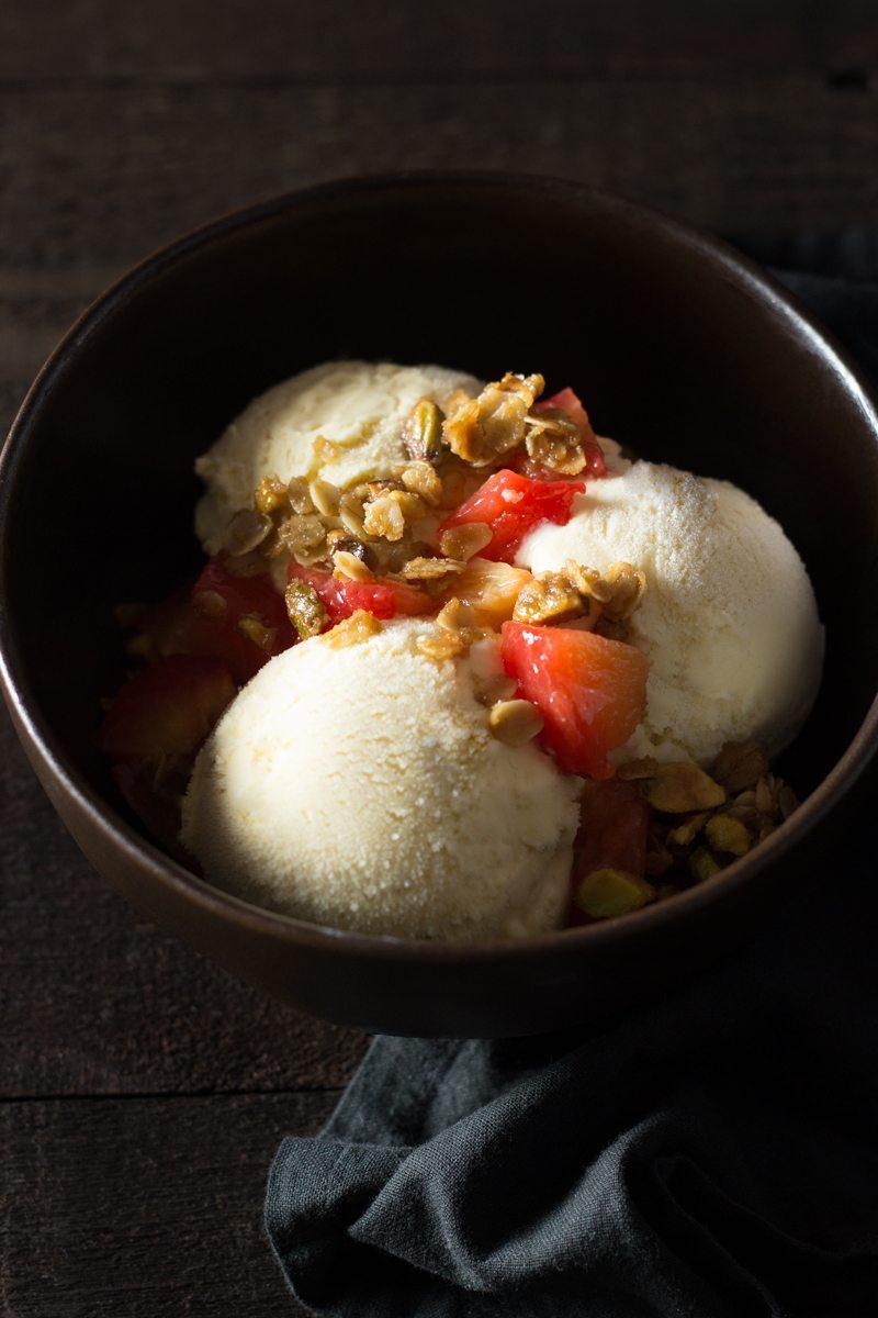 cardamom-honey-ice-cream,-pistachio-granola,-roasted-plums,-6