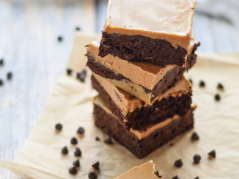 Almond Flour Brownies with Almond Butter Frosting