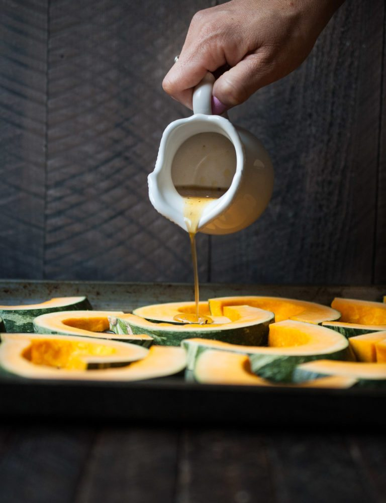 Cider and Maple Roasted Squash