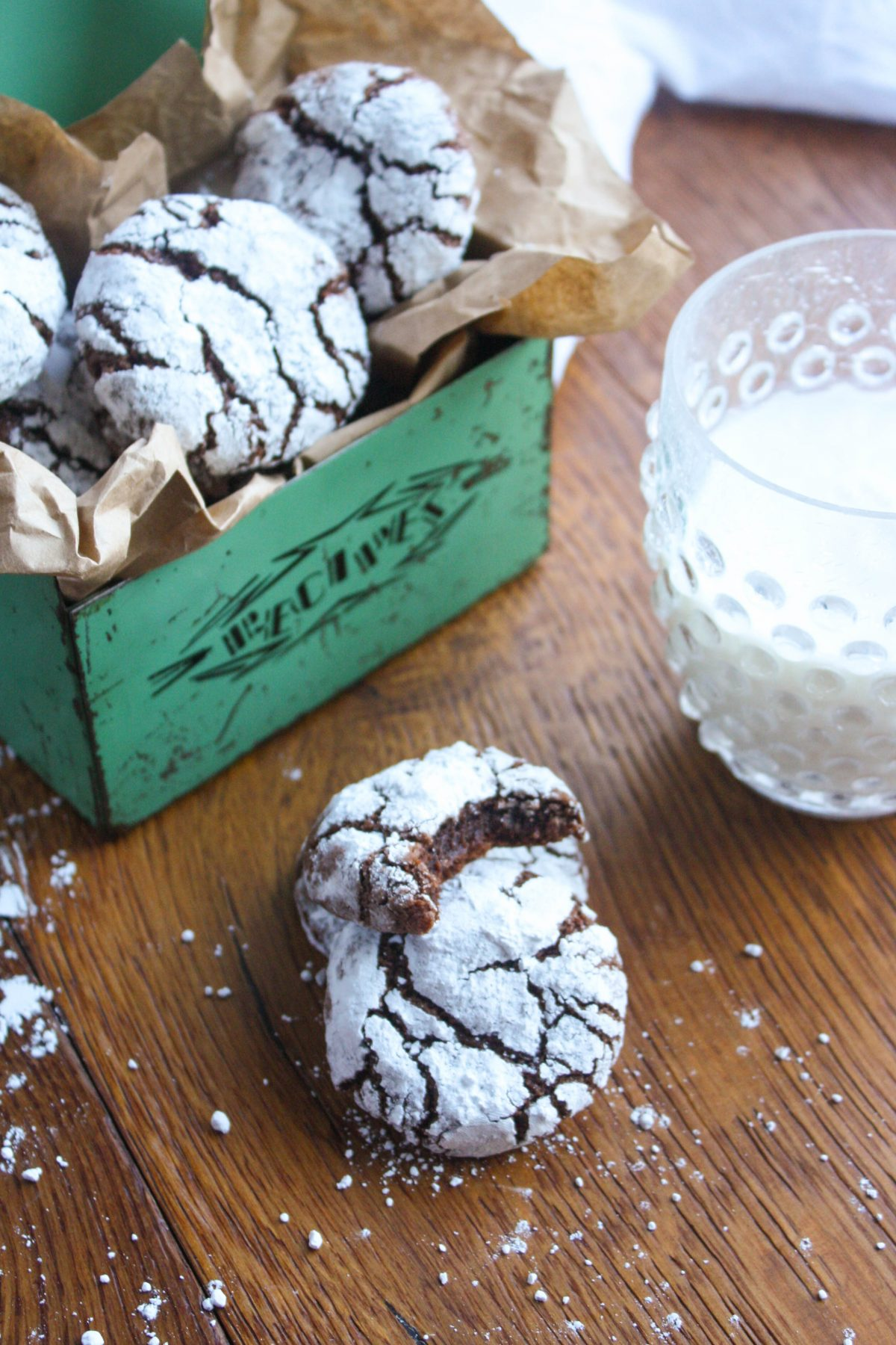 Chili Chocolate Crinkle Cookies