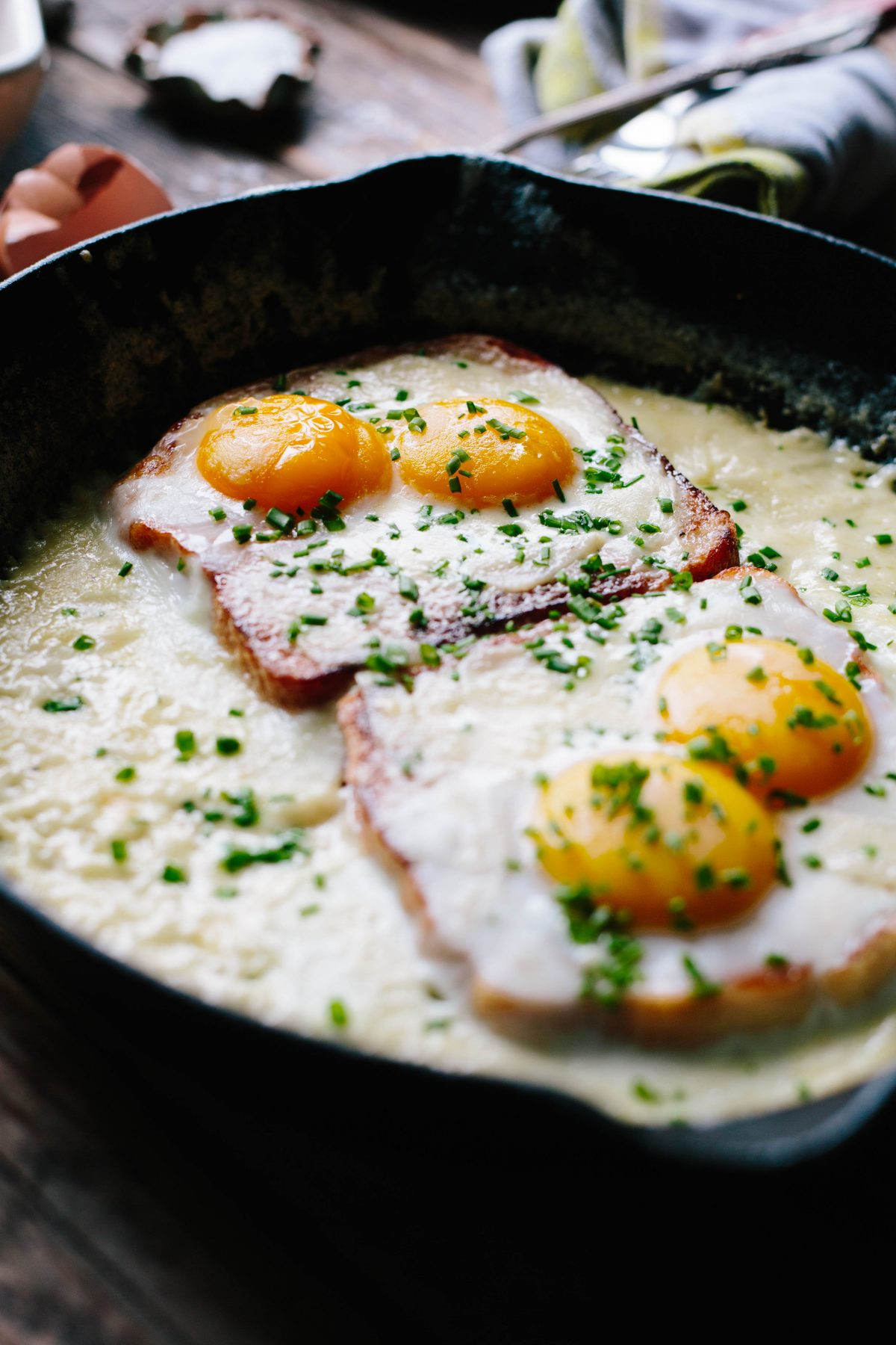 French Baked Eggs and Toast
