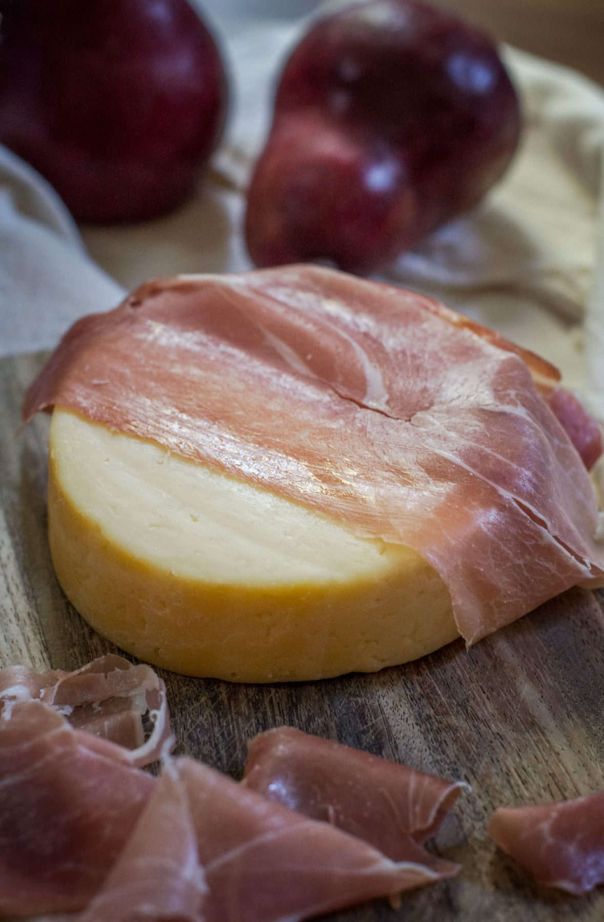 Prosciutto and Pastry-Wrapped Warm Gouda with Pear Compote