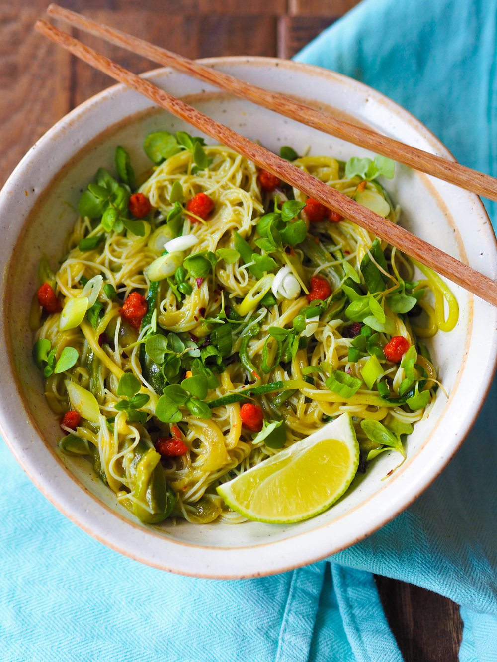 Avocado Green Curry Noodles