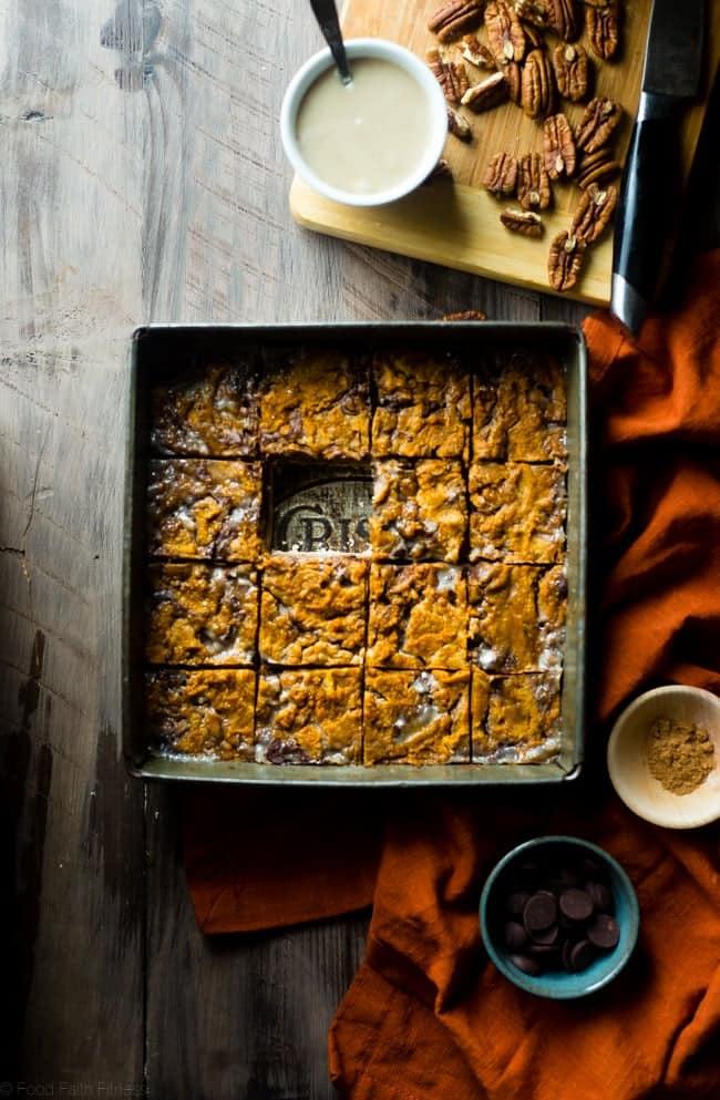 Paleo Pumpkin Magic Bars