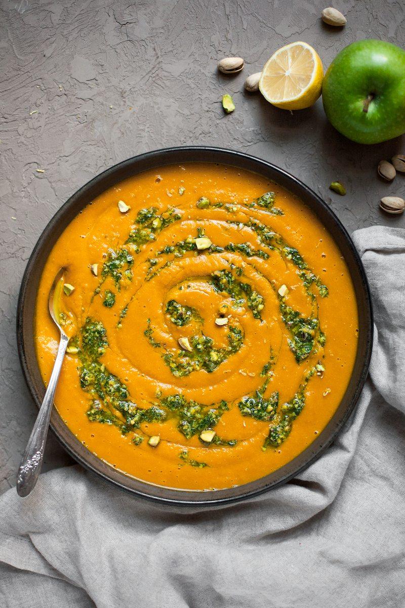 Pistachio Gremolata and Squash Soup