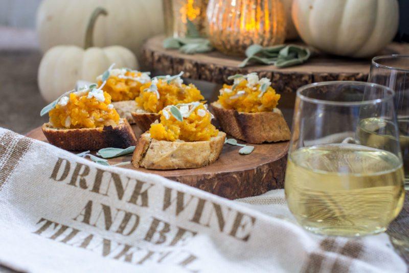 Perfect Fall Pair: Butternut Bruschetta and Wine