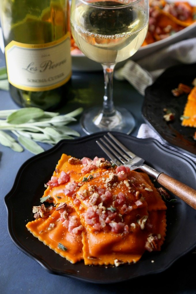 Butternut squash ravioli and sonoma cutrer wine for What to serve with butternut squash ravioli