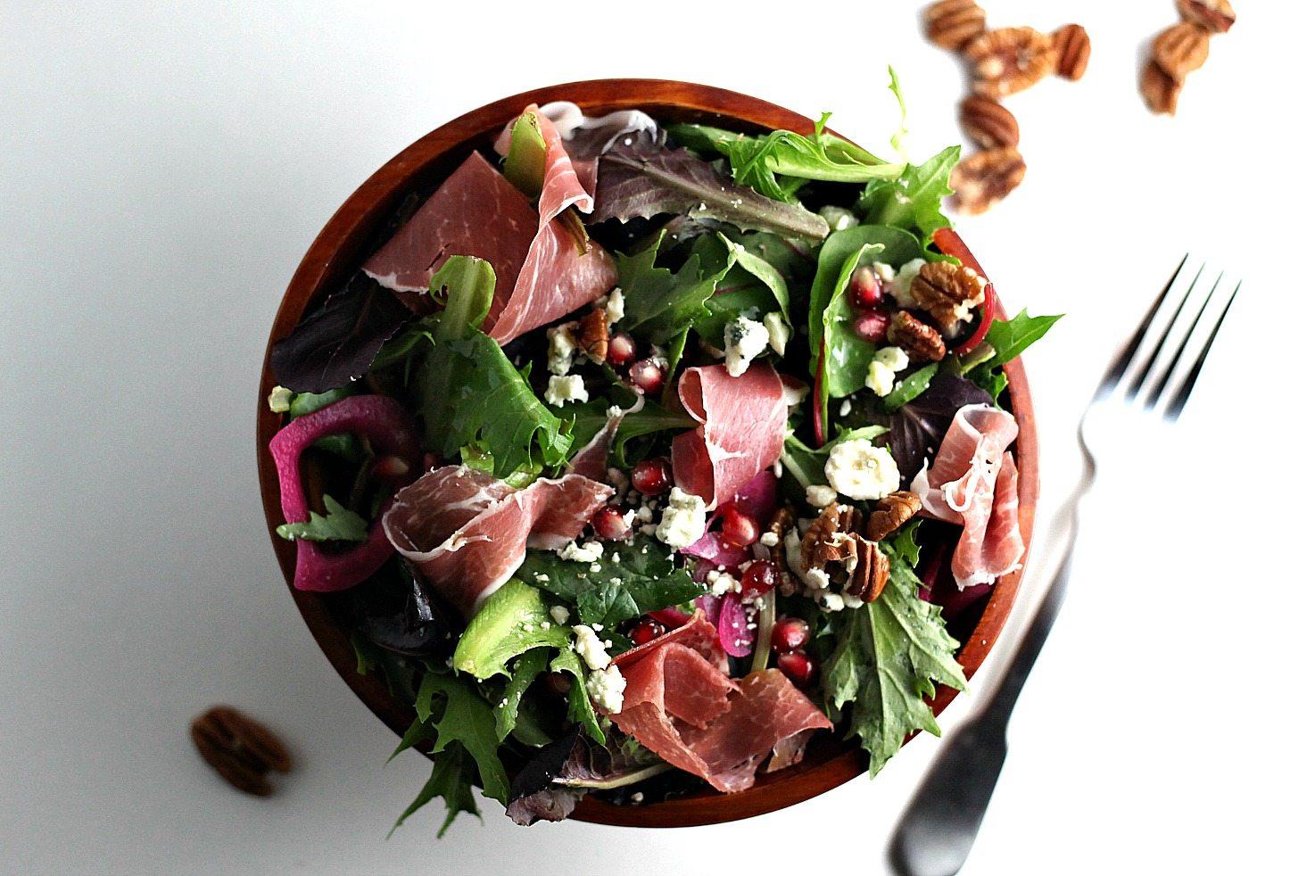 Prosciutto Salad and a Rosemary Vinaigrette