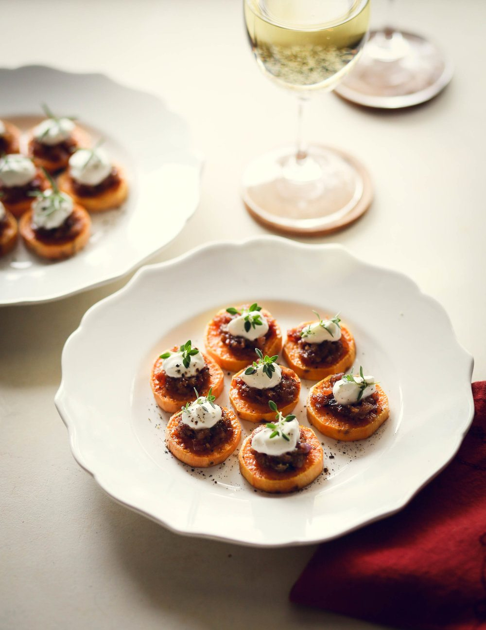 The Perfect Appetizer with Wine: Sweet Potatoes and Bacon Jam