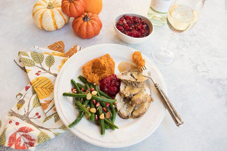 Chestnut and Mushroom Stuffed Turkey Breast and Pinot Grigio