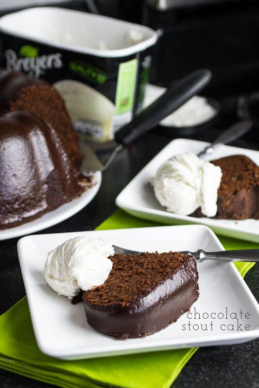 Chocolate Stout Cake and Ganache Glaze