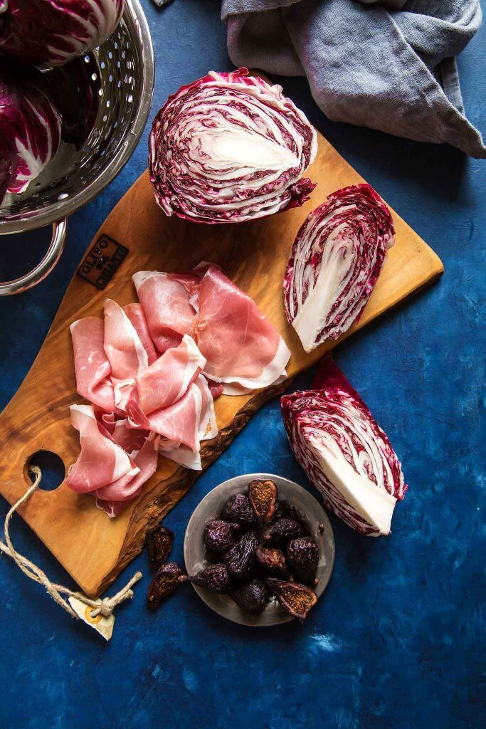 Prosciutto-Wrapped Radicchio and Balsamic Fig Sauce