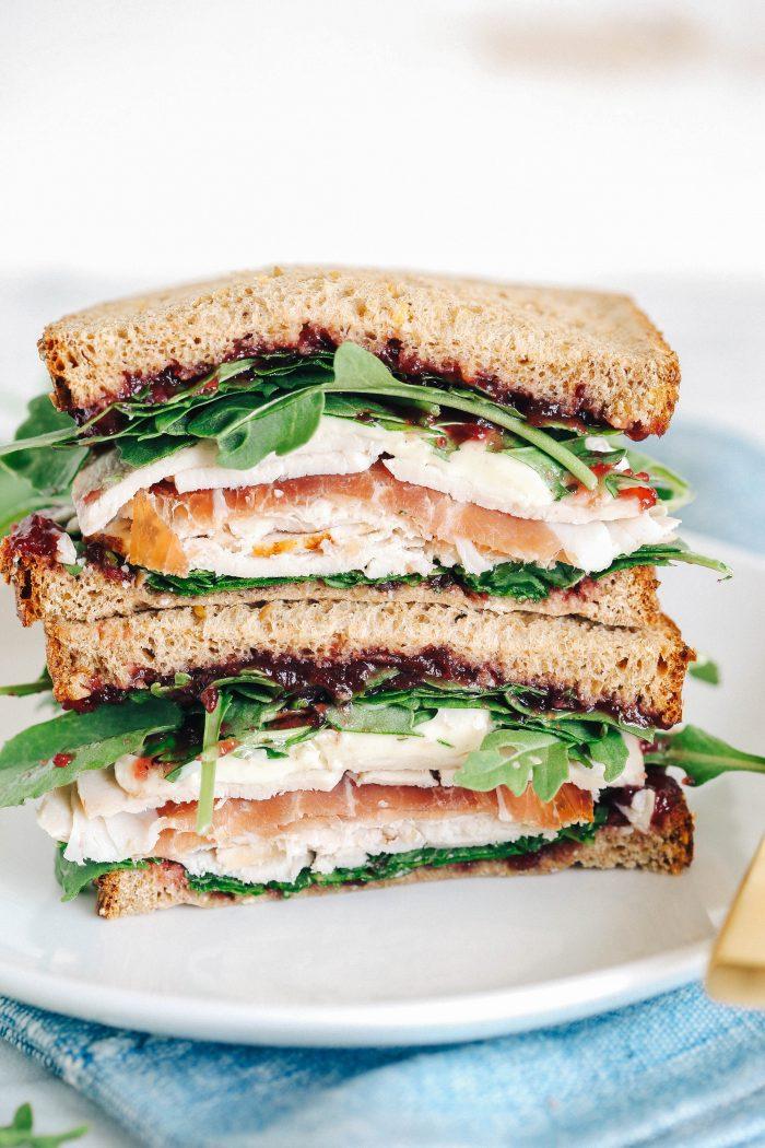 Brie, Cranberry, Turkey, and Prosciutto Sandwich