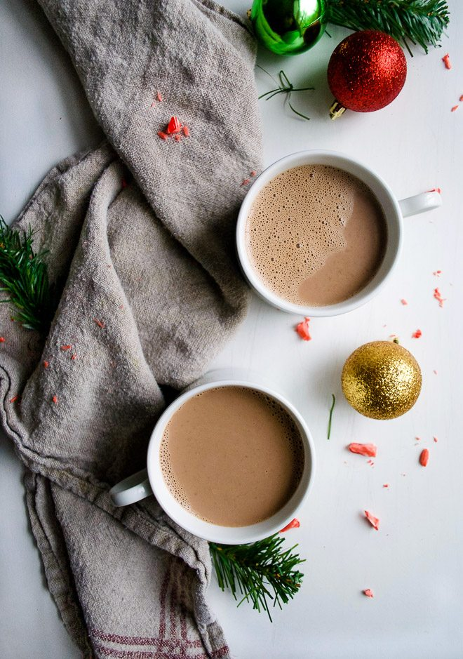 Homemade Peppermint Mocha - Simple, creamy and delicious homemade peppermint mocha that's perfect for any winter day! A favorite holiday drink! http://thelittlemomma.com